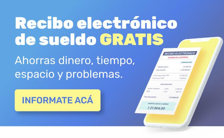 recibo electronico de sueldo gratis, informate acá